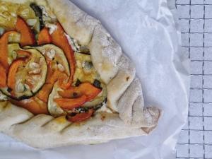 Kürbis-Zucchini Pide