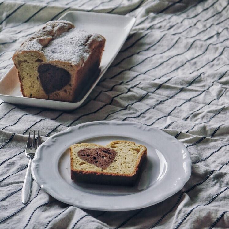 Kuchen mit Schokoherz