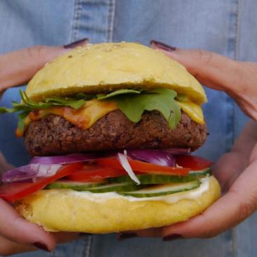 Burger aus Kidneybohnen