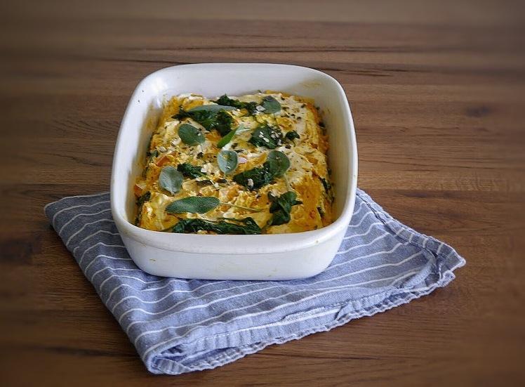 Kürbis Spinat Lasagne mit Salbei