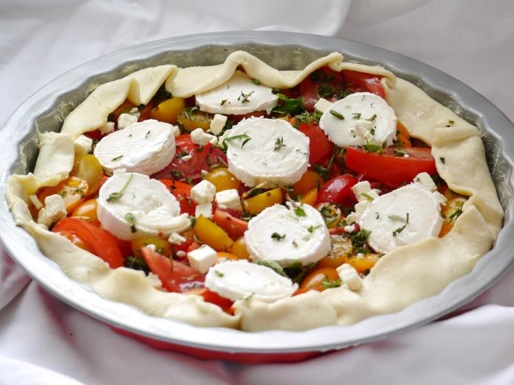 Tomatentarte mit Ziegenkäse und Honig