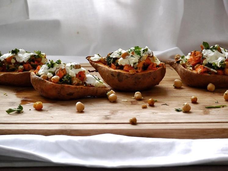 Süßkartoffelschiffchen