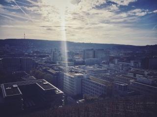 Panoramablick über den Stuttgarter Kessel