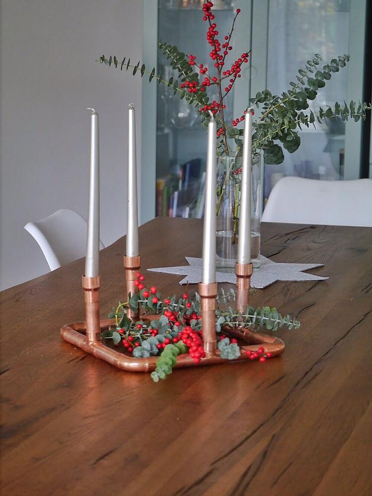 minimalistischer Adventskranz
